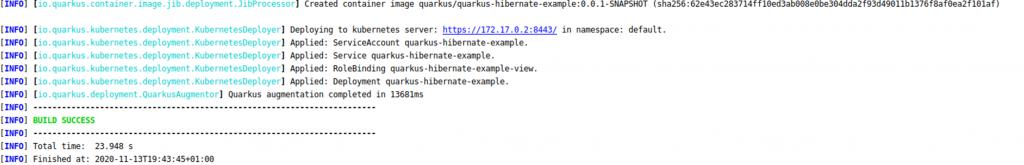 Desplegando imagen en kubernetes|Ejemplo aplicación Quarkus con Hibernate