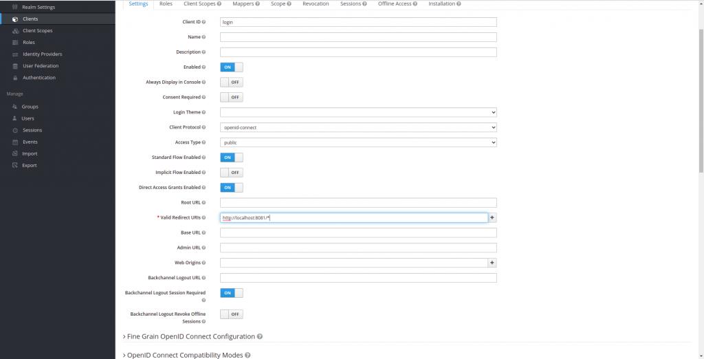 Url de redirección despues del Login en Keycloak   Integración de keycloak con Spring Boot
