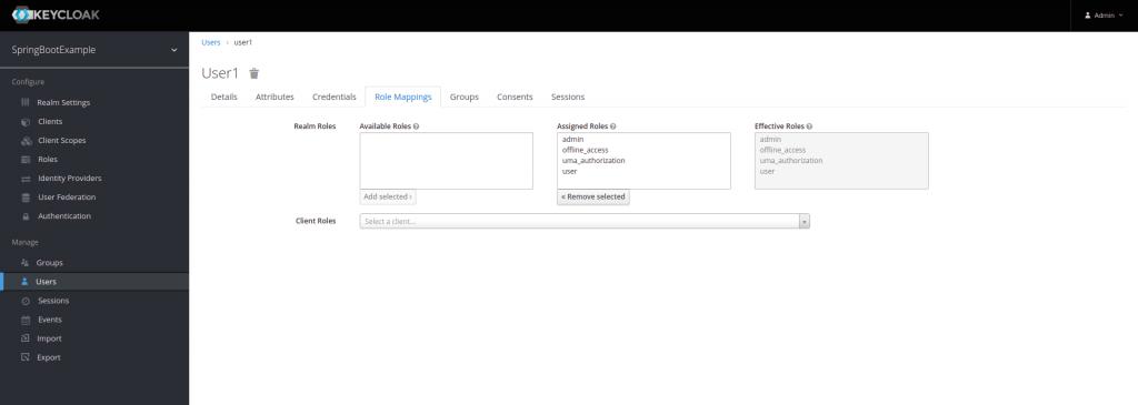Asociar roles a un usuario   Integración de keycloak con Spring Boot