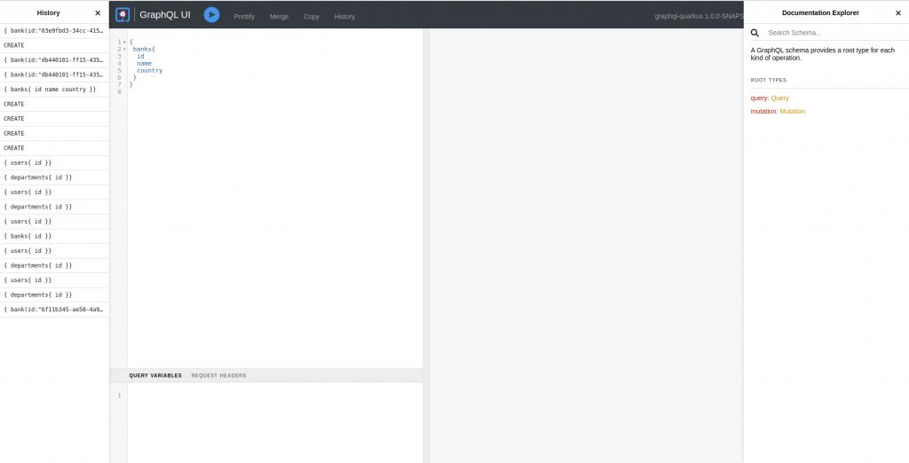Interfaz de GraphQL en Quarkus | Ejemplo de GraphQL con Quarkus