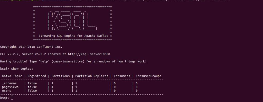 Cliente KSQL  | Streaming de datos con KSQL en Kafka